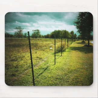 Barbed Wire Fence Mouse Pad