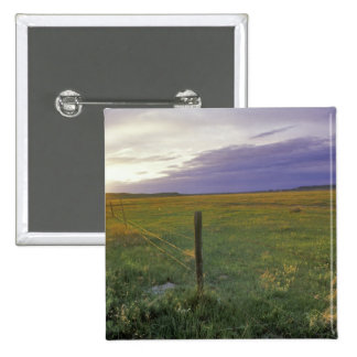 Barbed Wire Fenceline in northeastern Montana Button