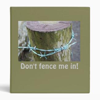 Barbed Wire Fencepost Mens Binder