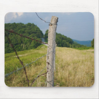Barbed Wire Fencepost Mouse Pad