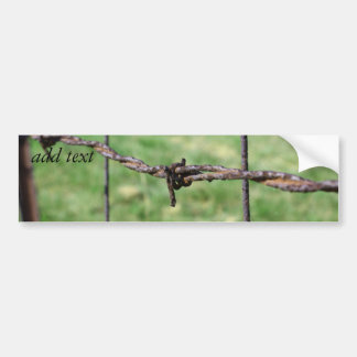Barbed Wire Fencing Car Bumper Sticker