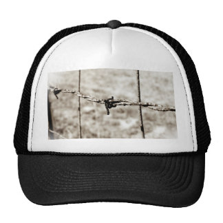 Barbed Wire Fencing (Sepia) Mesh Hat