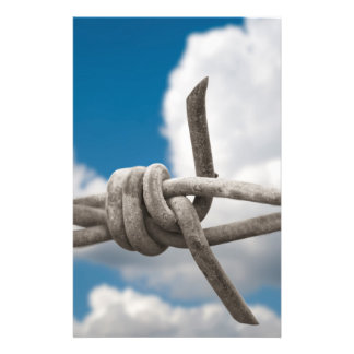 """Barbed wire 5.5"""" x 8.5"""" flyer"""