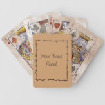 Barbed Wire Frame - Funny Cute Western Bicycle Playing Cards