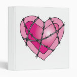 barbed wire heart 3 ring binders