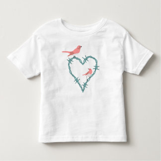 Barbed Wire Heart Birds T-shirt