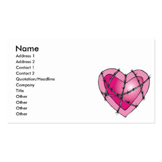 barbed wire heart business card