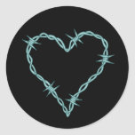 Barbed Wire Heart Classic Round Sticker