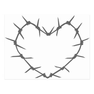 Barbed Wire Heart Postcard