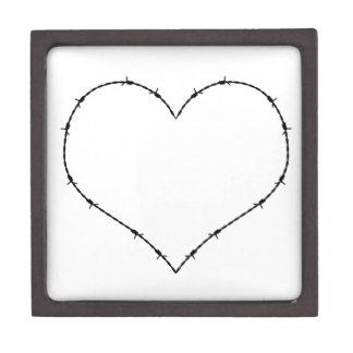 Barbed Wire Heart Premium Keepsake Box