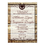 Barbed Wire Horseshoe Rustic Wedding Invitation Personalized Invitations