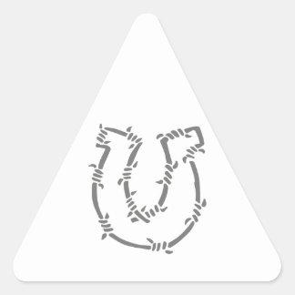 BARBED WIRE HORSESHOE TRIANGLE STICKER