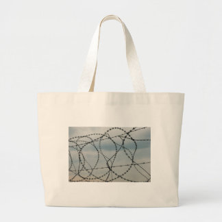 Barbed wire large tote bag