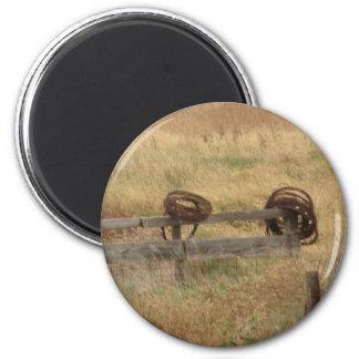 Barbed Wire 2 Inch Round Magnet