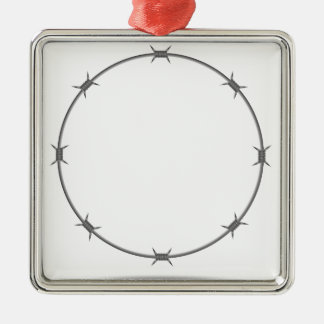 barbed wire metal ornament