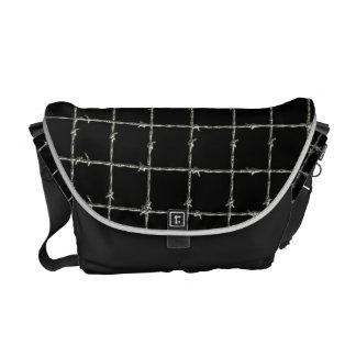 Barbed Wire on Black Messenger Bag