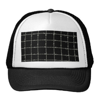 Barbed Wire on Black Trucker Hat