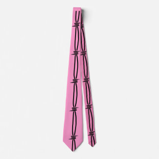 Barbed Wire on Pink 2 Neck Tie