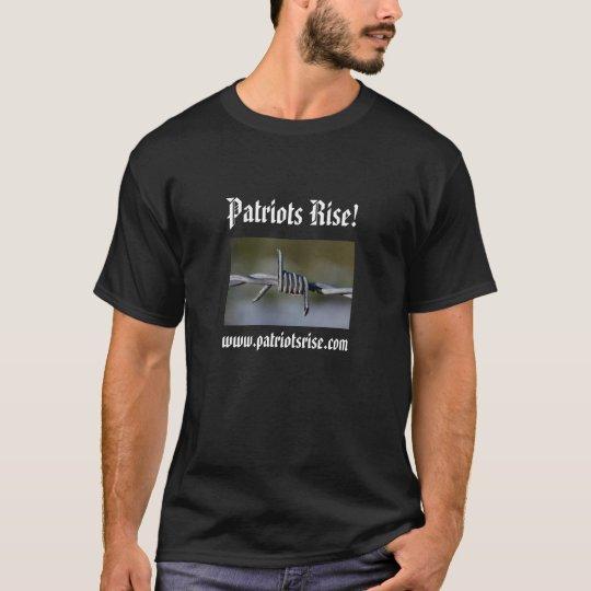 Barbed Wire, Patriots Rise!, www.patriotsris... T-Shirt