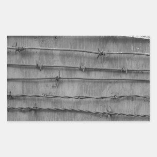 barbed wire rectangular sticker