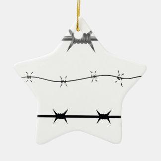 barbed wire set ceramic ornament