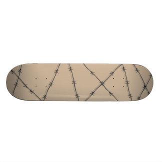 barbed wire skateboard deck