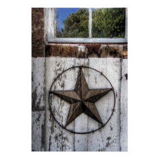 BARBED WIRE STAR of TEXAS Poster