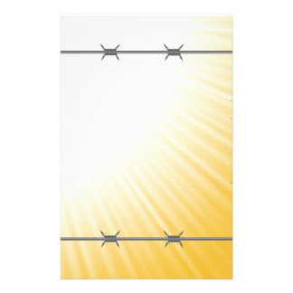 barbed wire stationery