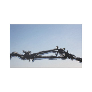 Barbed Wire Stretched Canvas Print
