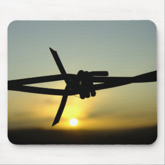 Barbed Wire Sunset Mouse Pad