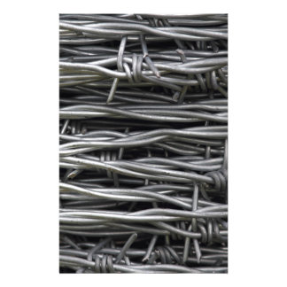 Barbed Wire texture Stationery Paper
