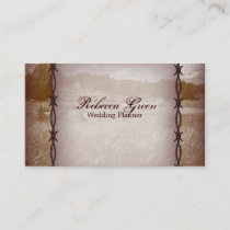 barbed wire western country farm ranch business card