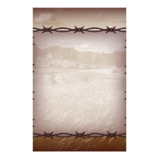 barbed wire western country wedding stationery