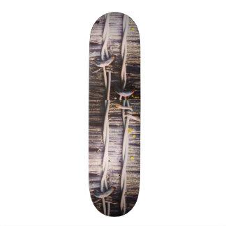 Barbed Wood Texture Skateboard