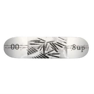 barbedwired skateboard deck