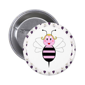 BarBee Bumble Bee Button