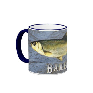 Barbel Freshwater Fish, With Water Background Ringer Coffee Mug