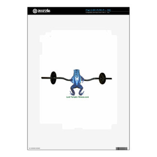 barbell and frog exercising iPad 2 decals