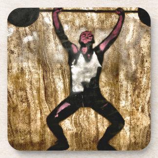 Barbell de la pesa de gimnasia del Weightlifter de Posavasos De Bebidas