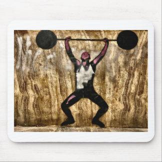 Barbell de la pesa de gimnasia del Weightlifter de Alfombrilla De Ratón