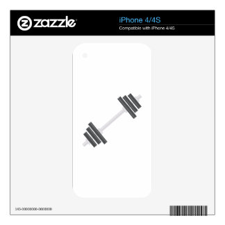 Barbell Decal For The iPhone 4