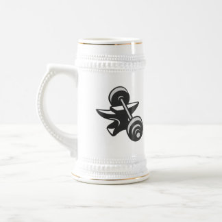 Barbell Dumbbell Anvil Grayscale Coffee Mugs