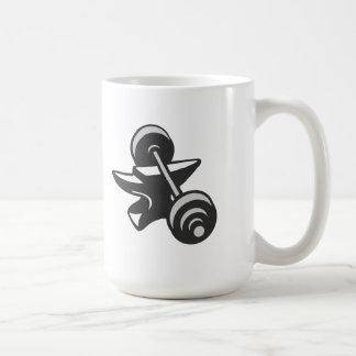 Barbell Dumbbell Anvil Grayscale Mugs