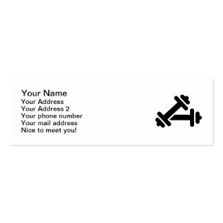 Barbell dumbbell training business card templates
