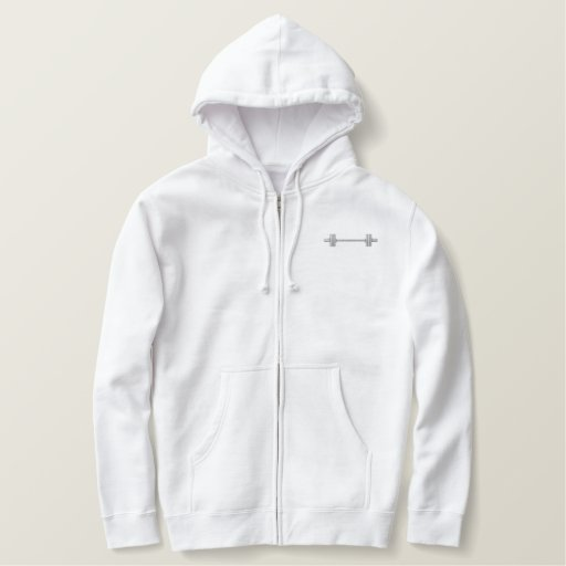 Barbell Embroidered Hoodie