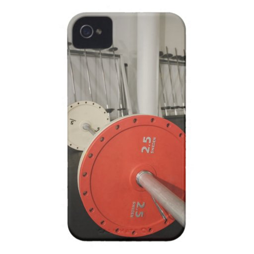 Barbell in gym iPhone 4 cover