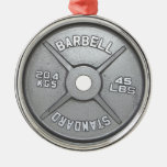 Barbell Plate Christmas Ornament