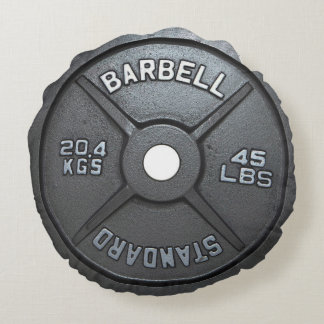Barbell Plate - Gym Round Pillow