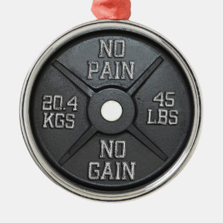 Barbell Plate - No Pain No Gain Christmas Ornament
