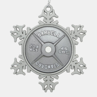 Barbell Plate Ornaments